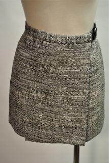 Diane Von Furstenberg Tweed Wrap Skirt New Sz 8 Belt Waist Mini Skirt