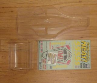 New Tamiya Avante 2011 Replacemnet Clear Body with Wing Sticker Decal
