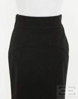 DVF Diane Von Furstenberg Black Wool Pencil Skirt Size 6