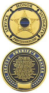 Deputy Sheriffs Prayer Challenge Coin