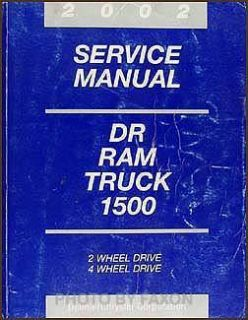 2002 Dodge RAM 1500 Pickup Truck Original Shop Manual