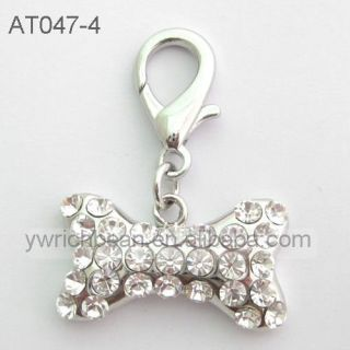 Dog charm,pet charm,dog jewelry, crystal rhinestones bone charm