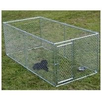 Large Chain Link 4x10x5 Dog Kennel Pet Pen Fence Outdoor New Free