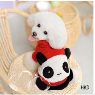 Christmas Panda shirt Hoodie Tee small dog pet clothes Apparel