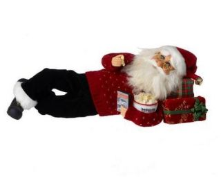 santa figurine by karen didion this whimsical popcorn santa is