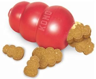 red classic kong dog pet toy rubber chew fetch