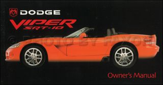 2003 Dodge Viper SRT 10 Owners Manual Original OEM SRT10 New NOS
