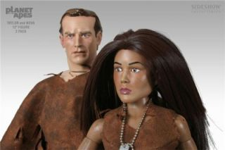 Sideshow Planet of The Apes Slave Taylor and Nova 12 inch Action