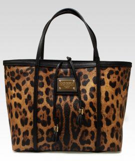 Dolce & Gabbana Miss Escape Leopard Tote Handbag NEW AUTHENTIC