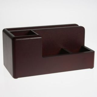 Rolodex Desk Organizer Mahogany 1734648 Tray Wood 8 75
