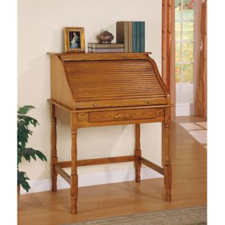 Palmetto Secretary Desk with Small Roll Top