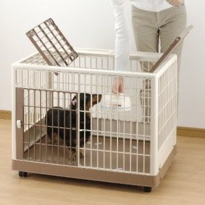 830 PET DOG PUPPY SMALL PLASTIC TRAINING KENNEL PEN CAGE CRATE R94604