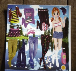 Paper Doll Dress Up Doll Paper Toys Girls Clothes Accessories Sheet 14