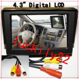 tft lcd digital car rearview camera monitor dvd