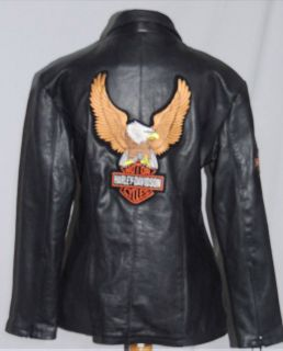 Best Harley Davidson Ladies Leather Jacket SM B 36