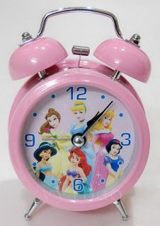 Disney Princess Children Desktop Alarm Clock Bell Light