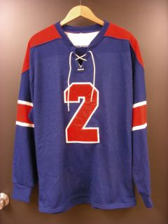 Don Cherry Movie Antique NY Rangers practice hockey jersey 2 sz48