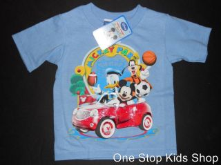 2T 3T 4T Short Sleeve Shirt Top Mickey Mouse Goofy Donald Duck