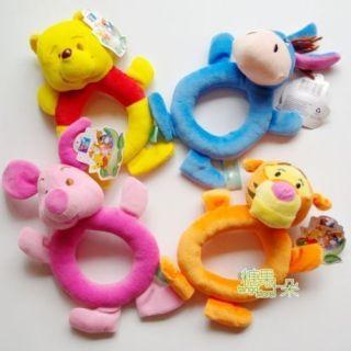 Model Hand Bell Kid Plush Toys Pooh Tigger Donkey Pig N006