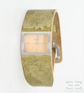 DKNY Donna Karan New York Gold Leather & Stainless Steel Watch
