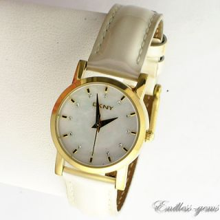 DKNY DONNA KARAN LADIES WATCH Mother of Pearl NY4765 WHITE LEATHER