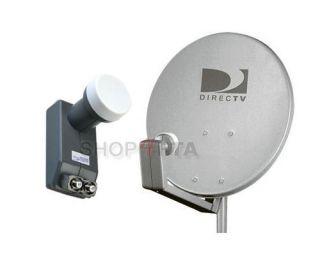 DirecTV 18 Full Satellite Dish Kit w Dual LNB 18 inch Antenna LNBF