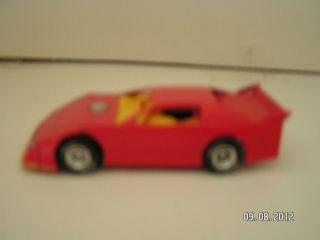64 Red Blank Dirt Late Model Race Car Diecast