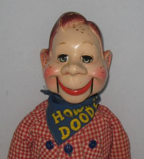 1950s Ideal Howdy Doody Ventriloquist Doll Hard Plastic 20 Tall