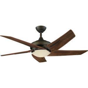 Hampton Bay Bronze Sidewinder 54 Ceiling Fan w Remote 5 Med Maple