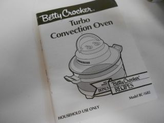BETTY CROCKER TURBO CONVECTION OVEN BC 1682 ***NEW IN BOX***