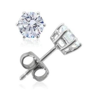 Set .40Ctw Round Cut Diamond Jewelry 14K Gold Solitaire Studs Earrings