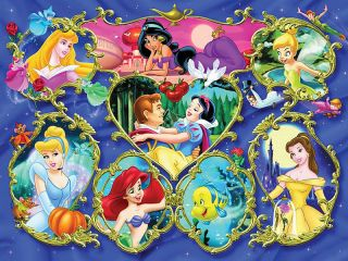 Disney Princesses Cross Stitch Large Pattern PDF No 014