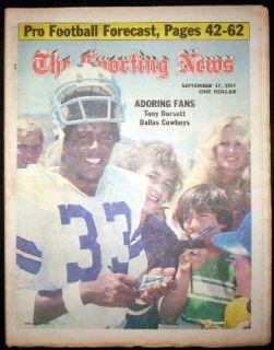 DALLAS COWBOYS 1977 TONY DORSETT SPORTING NEWS