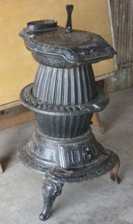 Antique Florin Pot Belly Stove Cast Iron Coal Wood Heater 212 Pick Up