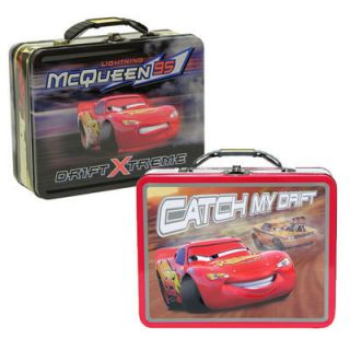 Disney Pixar Cars Lightning McQueen Kids School Storage Tote Lunch Box
