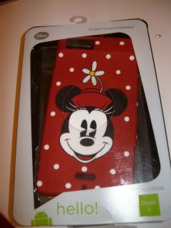 Droid X Disney Minnie Mouse Cell Phone cover NEW Walt Disney World
