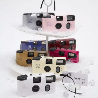 12 Single Use Wedding Day Disposable Cameras 11 Colors