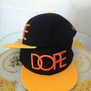 DOPE Snapback Black/Orange/Yellow (NEW) Obey, Last Kings, Supreme, DGK