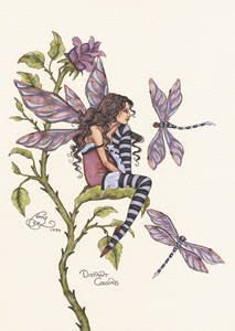 Distant Cousins Fairy Postcard Amy Brown Fairies