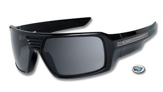 New Fox The Study Sunglasses by Oakley Polished Black Frame Grey Lens