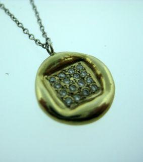 Fine Estate 18K Multi Tone Gold Diamond Pendant Necklace