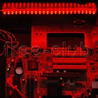 DIY Computer PC Desktop Case LED Light Mod Kit Neon Red