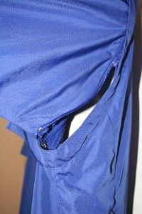Mens Blue Pearl Izumi Zip Front Cycling Bike Jersey Light Jacket Vest