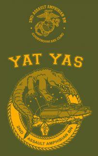 Marine Corps 2nd Amtracs Yat YAS OD Shirt