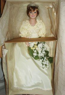 Danbury Mint Princess Diana Doll Wedding Day Bride Doll