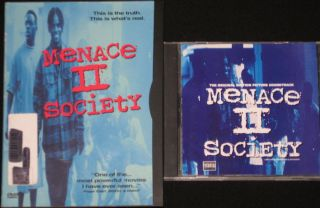 Menace II Society DVD CD Spice 1 DJ Quik Da Lench Mob Too Short MC