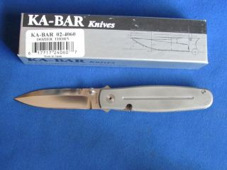 Ka Bar Dozier Thorn Folding Knife w 3 2 D2 Blade in Box Japan No Res