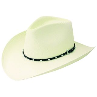 Stetson Western Braided Leathers Buckle Trim Ivory Color Hats