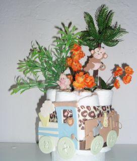 Wagon Cold Porcelain Baby Shower Diaper Mini Cake Centerpiece
