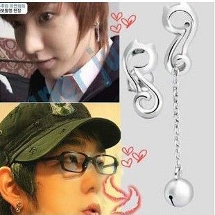 Korean Drama TV My Girl Lee Jun Ki Gi Cat Bell Earrings